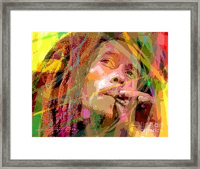 Bob Marley Framed Print by David Lloyd Glover