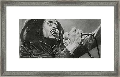 Bob Marley Framed Print by Don Medina