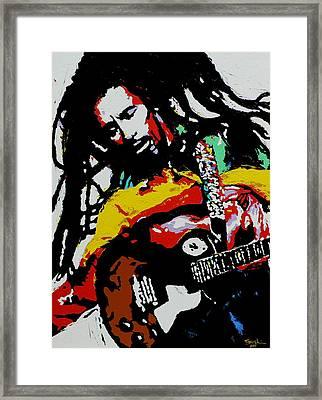 Bob Marley Framed Print by Eddie Lim