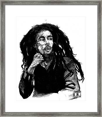Bob Marley Framed Print by Keith  Thurman