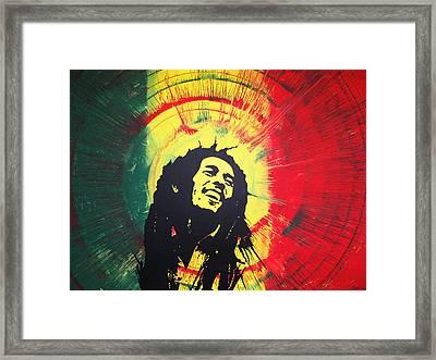 Bob Marley Framed Print by Lance Bifoss