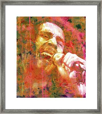 Bob Marley Legend Framed Print by Mal Bray