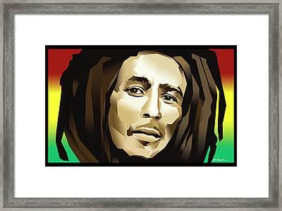 Bob Marley Framed Print by Marlene Kupau
