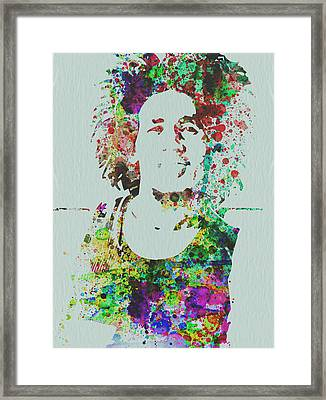 Bob Marley Music Legend Framed Print by Naxart Studio