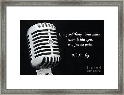 Bob Marley On Music Framed Print