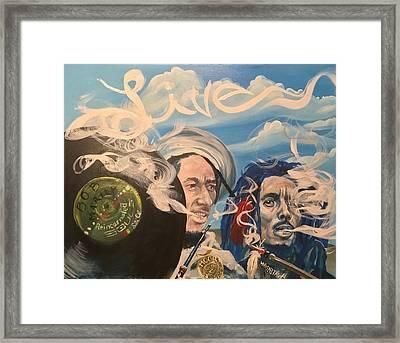 Bob Marley - Perpetual High Framed Print by Sean Ivy aka Afro Art Ivy