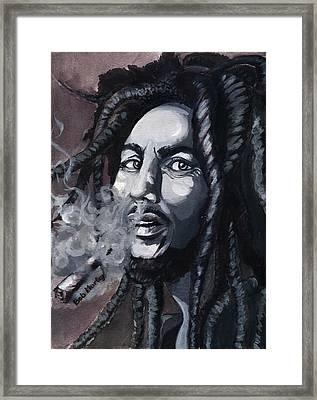Bob Marley Portrait Framed Print by Alban Dizdari