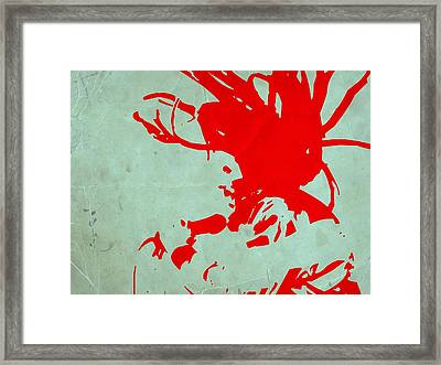 Bob Marley Red Framed Print by Naxart Studio