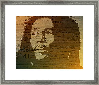 Bob Marley Redemption Song Framed Print by Dan Sproul