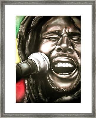 Bob Marley Framed Print by Zach Zwagil