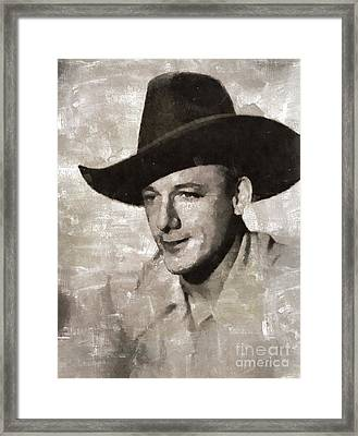 Bob Nolan, Western Actor Framed Print by Mary Bassett