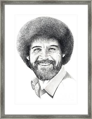 Bob Ross Framed Print by Murphy Elliott