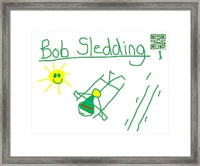 Bob Sledding Framed Print by Jeffrey Church