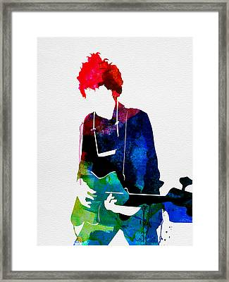 Bob Watercolor Framed Print by Naxart Studio