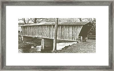 Bob White Covered Bridge Framed Print