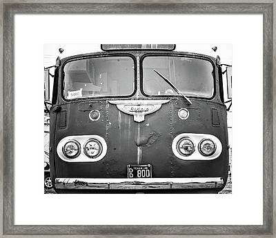 Bob Wills Tour Bus Bw Framed Print