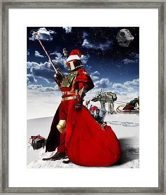 Boba Claus Framed Print by Cory Mcburnett