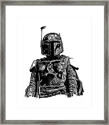 Boba Fett From The Star Wars Universe Framed Print