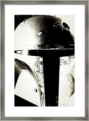 Boba Fett Helmet 22 Framed Print by Micah May