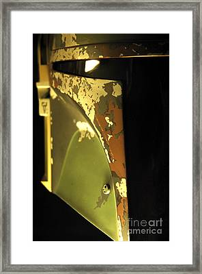 Boba Fett Helmet 26 Framed Print by Micah May