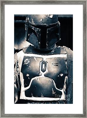 Boba Fett Helmet 32 Framed Print by Micah May