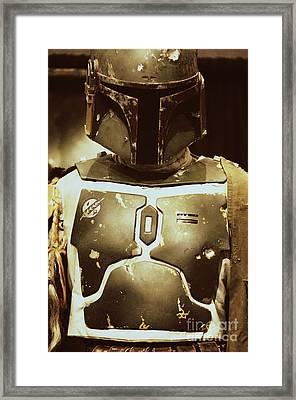 Boba Fett Helmet 33 Framed Print by Micah May