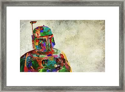 Boba Fett In Colour Framed Print by Mitch Boyce