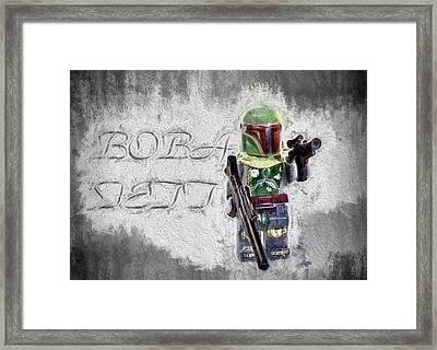 Framed Print featuring the digital art Boba Fett by JC Findley