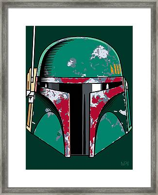 Boba Fett Framed Print by IKONOGRAPHI Art and Design