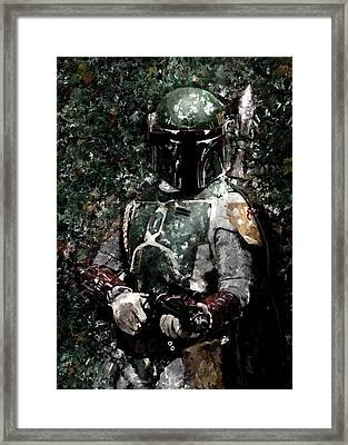 Boba Fett Portrait Art Painting Signed Prints Available At Laartwork.com Coupon Code Kodak Framed Print