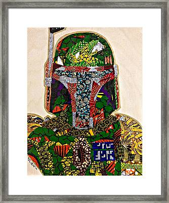 Boba Fett Star Wars Afrofuturist Collection Framed Print by Apanaki Temitayo M