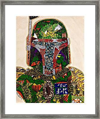 Boba Fett Star Wars Afrofuturist Collection Framed Print