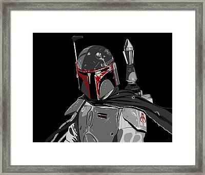Boba Fett Star Wars Pop Art Framed Print by Paul Dunkel
