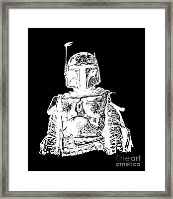 Boba Fett Tee Framed Print by Edward Fielding