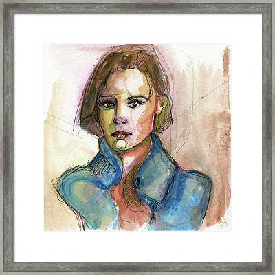 Bobbed With Blue Framed Print by Rob Tokarz