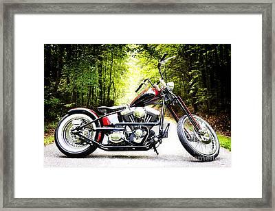 Bobber Harley Davidson Custom Motorcycle Framed Print