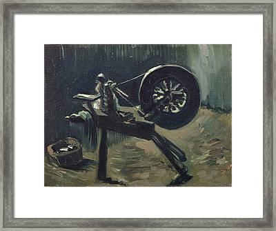 Bobbin Winder March 1885 - April 1885 Framed Print by Vincent Van Gogh