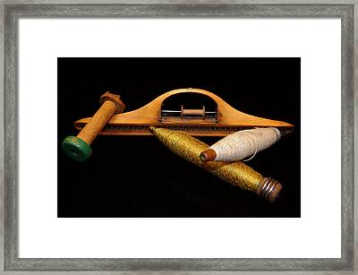 Bobbins And Spools Framed Print by Richard Ortolano