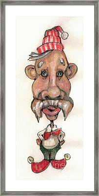 Bobblehead No 1 Framed Print by Edward Ruth