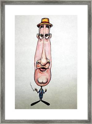 Bobblehead No 101 Framed Print by Edward Ruth
