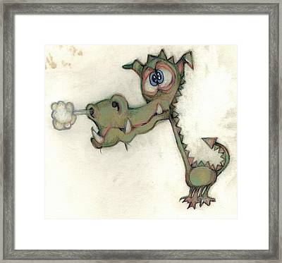 Bobblehead No 23 Framed Print by Edward Ruth