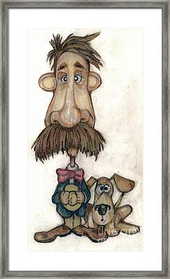 Bobblehead No 31 Framed Print by Edward Ruth