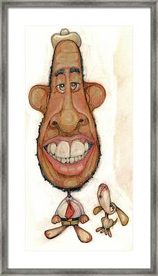 Bobblehead No 47 Framed Print by Edward Ruth