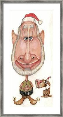 Bobblehead No 60 Framed Print by Edward Ruth