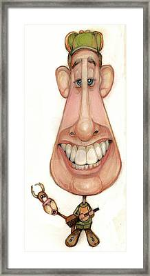 Bobblehead No 61 Framed Print by Edward Ruth