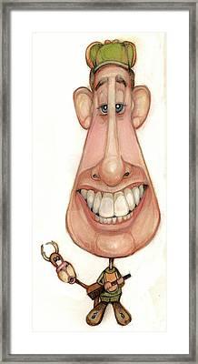 Bobblehead No 61 Framed Print by Edward Ruth