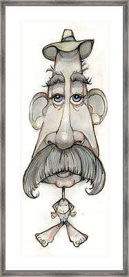 Bobblehead No 65 Framed Print by Edward Ruth