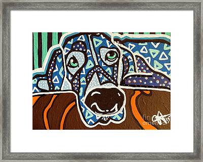 Bobby Blue Eyes Framed Print by Jackie Carpenter