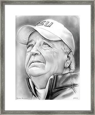 Bobby Bowden Framed Print by Greg Joens