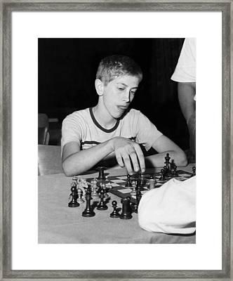Bobby Fischer, Circa 1957 Framed Print